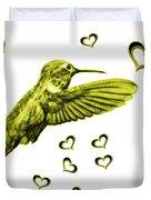 Yellow Hummingbird - 2055 F S M Duvet Cover