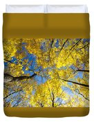 Yellow In The Sky Duvet Cover