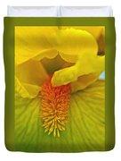 Yellow Iris Beard Duvet Cover