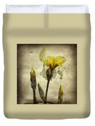 Yellow Iris - Vintage Colors Duvet Cover