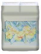 Yellow Iris' Duvet Cover
