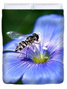 Blue Flax Flower Duvet Cover