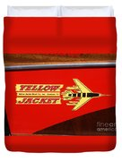 Yellow Jacket Outboard Boat Duvet Cover