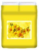 Yellow Kalanchoe - Succulent Sunshine Duvet Cover