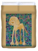 Yellow Lab Pup Duvet Cover