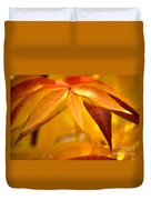 Yellow Leaves At Dawn Duvet Cover
