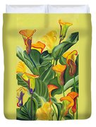 Yellow Lilies Duvet Cover