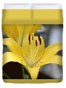 Yellow Lilly Duvet Cover