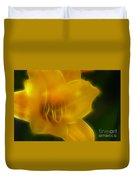 Yellow Lily 6069-fractal Duvet Cover