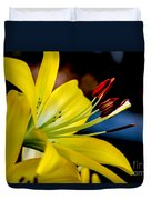 Yellow Lily Anthers Duvet Cover