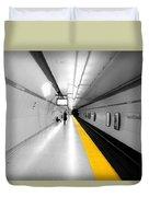 Yellow Line Duvet Cover
