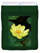 Yellow Lotus Duvet Cover
