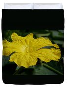 Yellow Luffa Blossom Duvet Cover