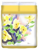 Yellow Magnolias Duvet Cover