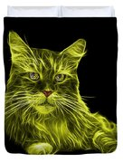Yellow Maine Coon Cat - 3926 - Bb Duvet Cover