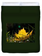 Yellow Maple Leaf Duvet Cover