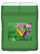 Yellow Monarch Butterfly Duvet Cover