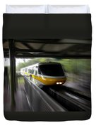 Yellow Monorail Entering The Station 02 Duvet Cover