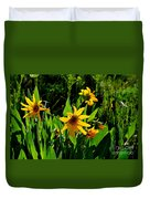 Yellow Mountain Flowers Duvet Cover