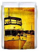 Yellow On The Water Duvet Cover