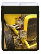 Street Car - Yellow Open Engine Duvet Cover