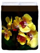 Yellow Orchids Shadow And Light Duvet Cover