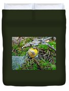 Yellow Patches Baby Mushroom - Amanita Muscaria Duvet Cover