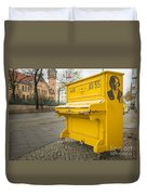 Yellow Piano Beethoven Duvet Cover