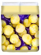 Yellow Plums Duvet Cover
