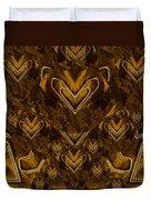 Yellow Pop Art Hearts Duvet Cover