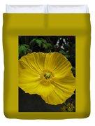 Yellow Poppie Duvet Cover