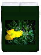 Yellow Poppy Xl Format Floral Photography Duvet Cover