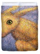 Yellow Rabbit Duvet Cover