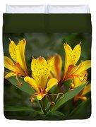 Yellow Red Flower Duvet Cover