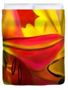 Yellow Red Kiss Duvet Cover