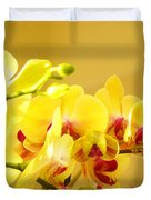 Yellow Red Orchid Flowers Art Prints Orchids Duvet Cover