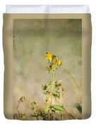 Yellow-red Wildflower With Texture Duvet Cover