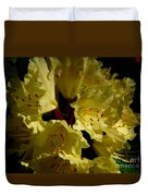 Yellow Rhododendron Duvet Cover