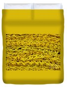 Yellow Rope Stack Duvet Cover