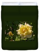Yellow Rose And Bud Duvet Cover