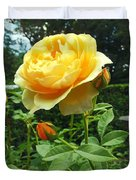 Yellow Rose And Buds Duvet Cover