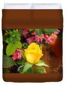 Yellow Rose In Bloom Duvet Cover