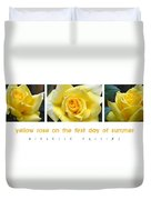 Yellow Rose On The First Day Of Summer Duvet Cover