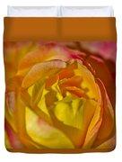 Yellow Rose Up Close Duvet Cover
