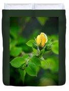 Yellow Rosebud Duvet Cover