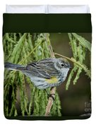Yellow-rumped Warbler Duvet Cover