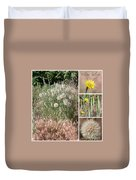 Yellow Salsify Collage Duvet Cover