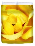 Yellow Sapphire Rose Palm Springs Duvet Cover