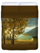 Yellow School House Duvet Cover
