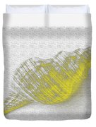 Yellow Seashell Duvet Cover